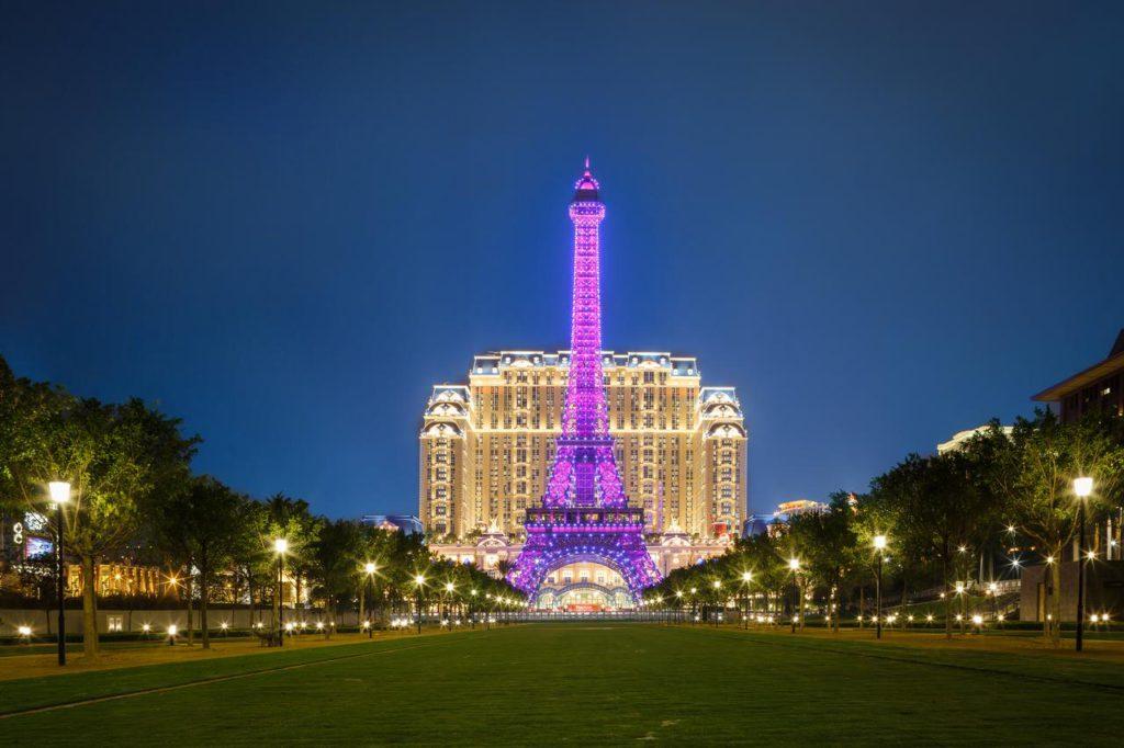 澳門旅遊推薦-巴黎人-巴黎鐵塔燈光秀